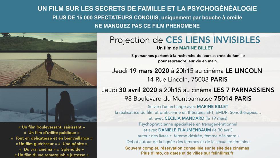 CES LIENS INVISIBLES - JEUDI 19 MARS 2020  à  20h15
